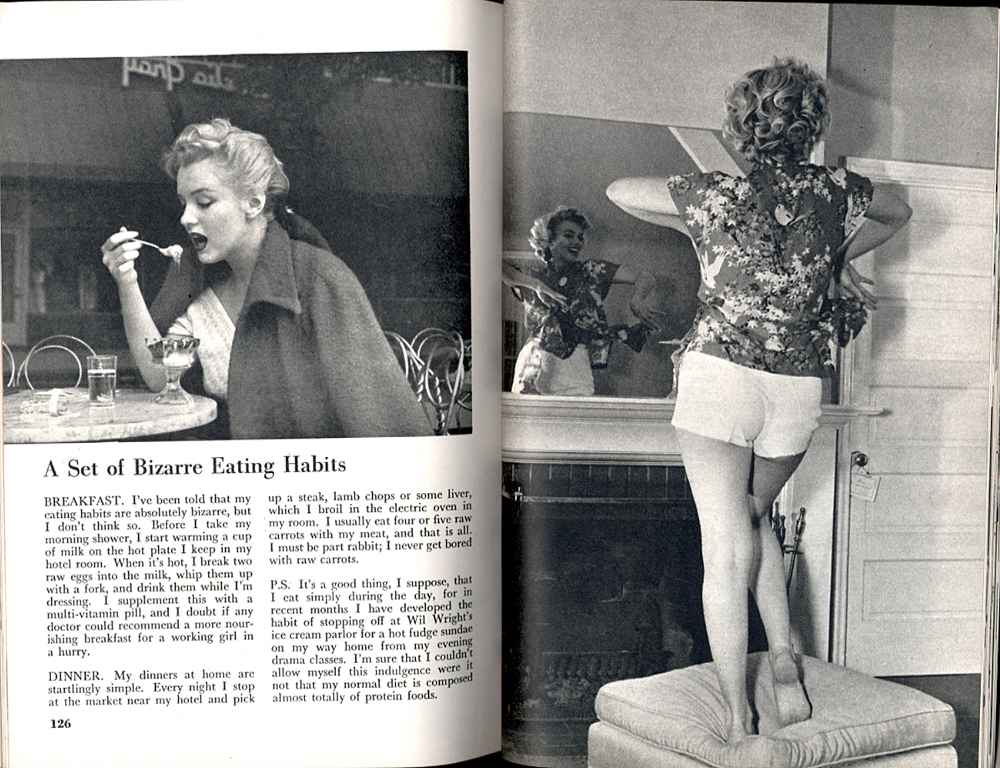 Marily Monroe High Protein Diet
